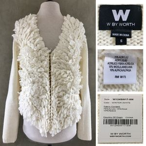 WORTH Shaggy Chunky Loop Knit Cardigan Sweater